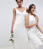 photo Bridesmaid Maxi Dress with Cowl Back by Ghost, color Ivory - Image 3