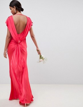 photo Capped Sleeve Maxi Dress by Ghost, color Crimson - Image 1