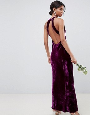 photo Bridesmaid Maxi Dress with Keyhole Detail by Ghost, color Purple - Image 2
