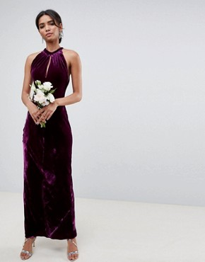 photo Bridesmaid Maxi Dress with Keyhole Detail by Ghost, color Purple - Image 1