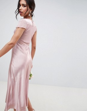 photo Bridesmaid Capped Sleeve Maxi Dress by Ghost, color Boudoir Pink - Image 2