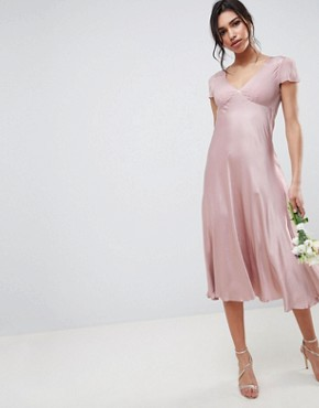 photo Bridesmaid Capped Sleeve Maxi Dress by Ghost, color Boudoir Pink - Image 1