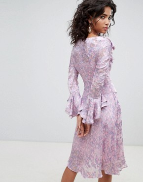 photo Long Sleeve Printed Midi Dress by Ghost, color Salma Floral Repeat - Image 2