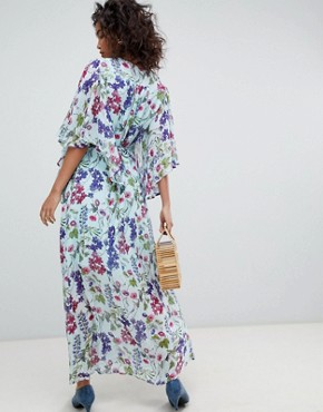 photo Kimono Sleeve Printed Maxi Dress by Ghost, color Sally Bloom - Image 2