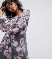 photo Long Sleeve Printed Maxi Dress by Ghost, color Lilia Bloom - Image 3