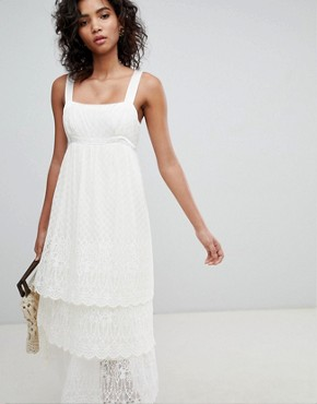 photo Pretty Lace Cami Dress by Ghost, color Ivory - Image 1