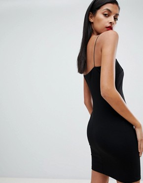 photo Cut Out Trim Mini Dress by ASOS DESIGN, color Black - Image 2