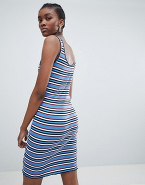 photo Stripe Bodycon Dress by New Look, color Blue Pattern - Image 2