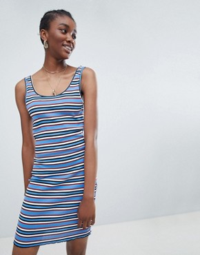 photo Stripe Bodycon Dress by New Look, color Blue Pattern - Image 1