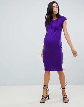 photo Shift Dress by New Look Maternity, color Purple - Image 1