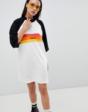 photo Oversize t-shirt Dress with Slogan by the Ragged Priest, color Multi - Image 1