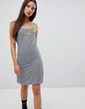 photo Cami Dress in Stripe with Slogan by the Ragged Priest, color Stripe - Image 1