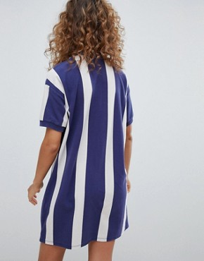 photo Rugby Dress in Colourblock Blue by Pull&Bear, color Blue - Image 2