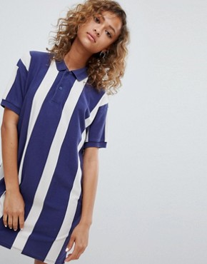 photo Rugby Dress in Colourblock Blue by Pull&Bear, color Blue - Image 1