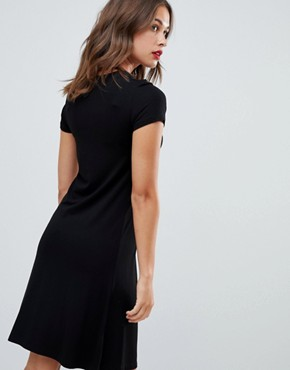 photo Nursing Button Through Dress by New Look Maternity, color Black - Image 2