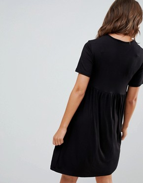 photo Nursing Smock Dress by New Look Maternity, color Black - Image 2
