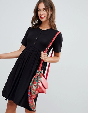 photo Nursing Smock Dress by New Look Maternity, color Black - Image 1