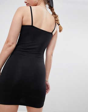 photo Bodycon Dress with Square Neck in Black by Miss Selfridge, color Black - Image 2
