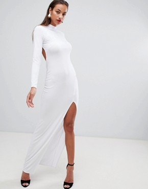 photo Open Back Maxi Dress by ASOS DESIGN, color White - Image 2