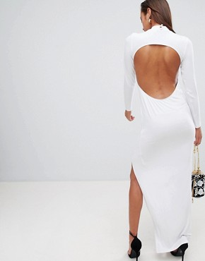 photo Open Back Maxi Dress by ASOS DESIGN, color White - Image 1