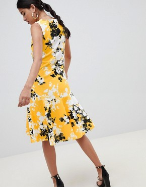 photo Scuba Shift Dress with Full Hem in Shadow Floral by ASOS DESIGN, color Floral Print - Image 2