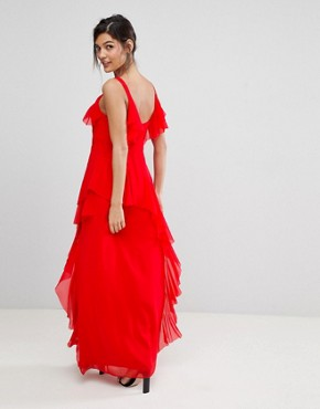 photo Illy Ruffle Maxi Dress by Coast, color Red - Image 2