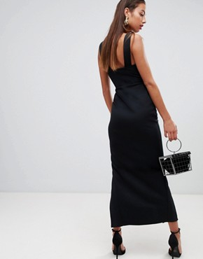 photo Sweetheart Maxi Dress with Thigh Split by ASOS DESIGN, color Black - Image 2