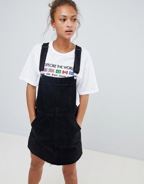 photo Dungaree Dress by Bershka, color Black - Image 1