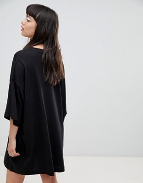 photo Huge T-Shirt Dress by Weekday, color Black - Image 2