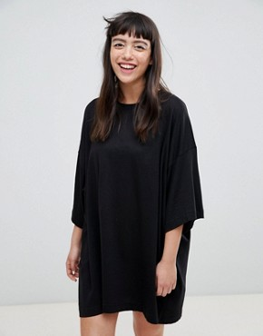 photo Huge T-Shirt Dress by Weekday, color Black - Image 1