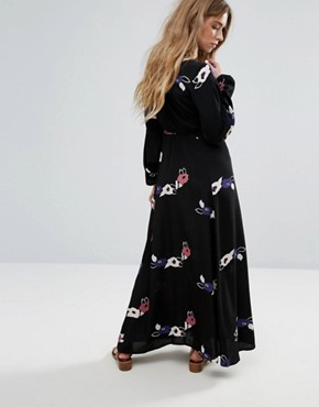 photo Floral Maxi Dress by Rollas, color Black Rose - Image 2
