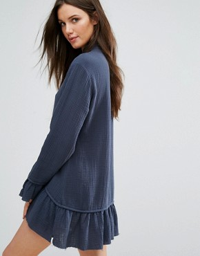 photo Flare Hem Dress with Tie Up by One Teaspoon, color Grey - Image 2