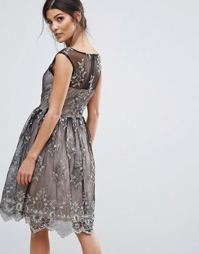 photo Embroidery Prom Dress by Little Mistress, color Black - Image 2