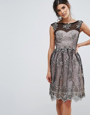 photo Embroidery Prom Dress by Little Mistress, color Black - Image 1