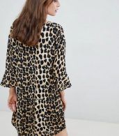 photo Leopard Print Shift Dress by b.Young, color Leopard Print - Image 2