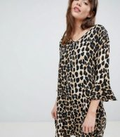 photo Leopard Print Shift Dress by b.Young, color Leopard Print - Image 1