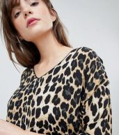 photo Leopard Print Shift Dress by b.Young, color Leopard Print - Image 3