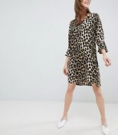 photo Leopard Print Shift Dress by b.Young, color Leopard Print - Image 4