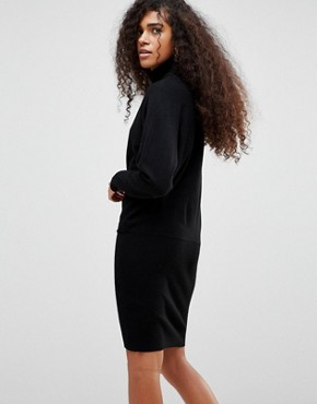 photo High Neck Jumper Dress by b.Young, color Black - Image 2