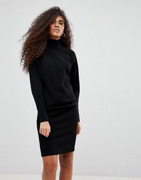 photo High Neck Jumper Dress by b.Young, color Black - Image 1