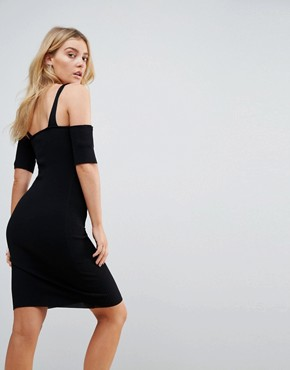 photo Francis Cold Shoulder Knit Dress by Minkpink, color Black - Image 2
