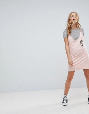photo Patch Slip Dress with T-Shirt by Minkpink, color Dusty Pink - Image 4