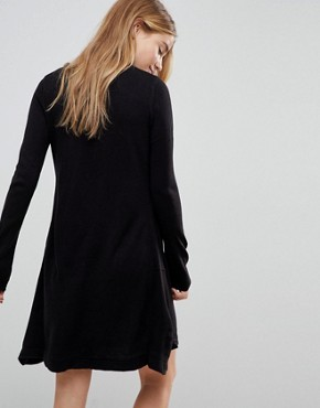 photo Swing Jumper Dress by Brave Soul, color Black - Image 2
