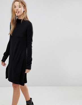 photo Swing Jumper Dress by Brave Soul, color Black - Image 1