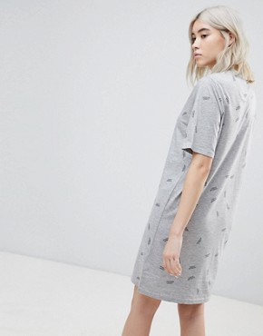 photo Smash Print T-Shirt Dress by Cheap Monday, color Grey Mel - Image 2