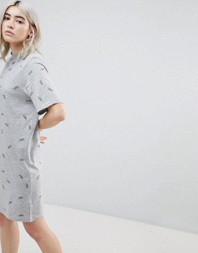 photo Smash Print T-Shirt Dress by Cheap Monday, color Grey Mel - Image 1