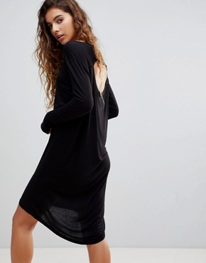 photo Ban Long Sleeved Shift Dress by Cheap Monday, color Black - Image 1
