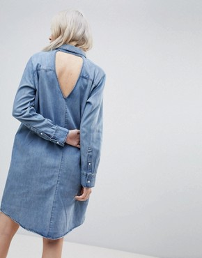 photo Anti Denim Shirt Dress by Cheap Monday, color Thrift Blue - Image 2