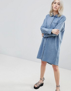 photo Anti Denim Shirt Dress by Cheap Monday, color Thrift Blue - Image 1