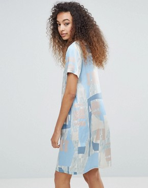 photo Printed Silky Printed Dress by MbyM, color Cassia Print - Image 2